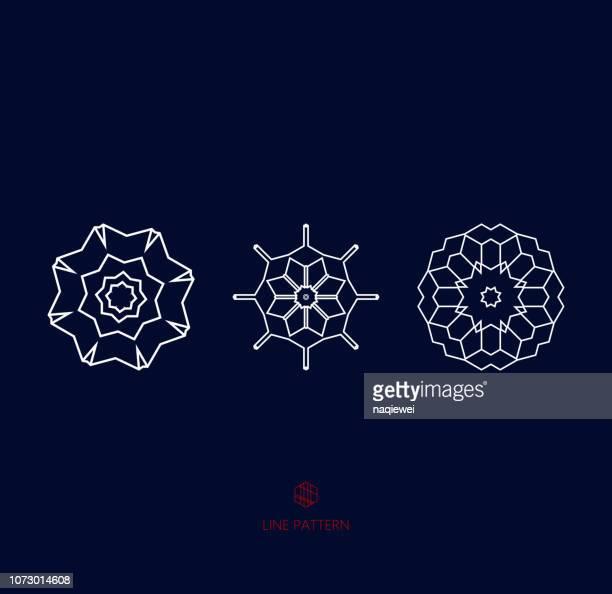 geometric pattern icon - symmetry stock illustrations