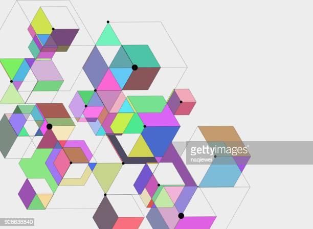 geometric pattern - toned image stock illustrations