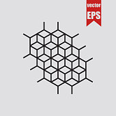 Geometric pattern with rhombuses.Vector illustration.