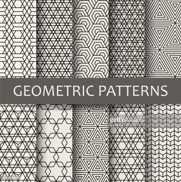 geometric patterns - collection stock illustrations, clip art, cartoons, & icons