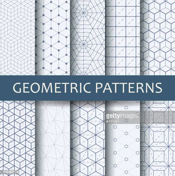 geometric patterns - grid pattern stock illustrations