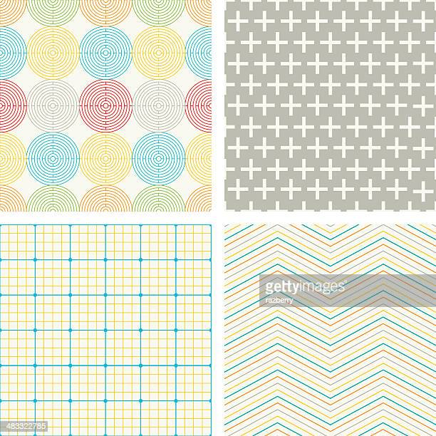 geometric patterns - plus sign stock illustrations, clip art, cartoons, & icons