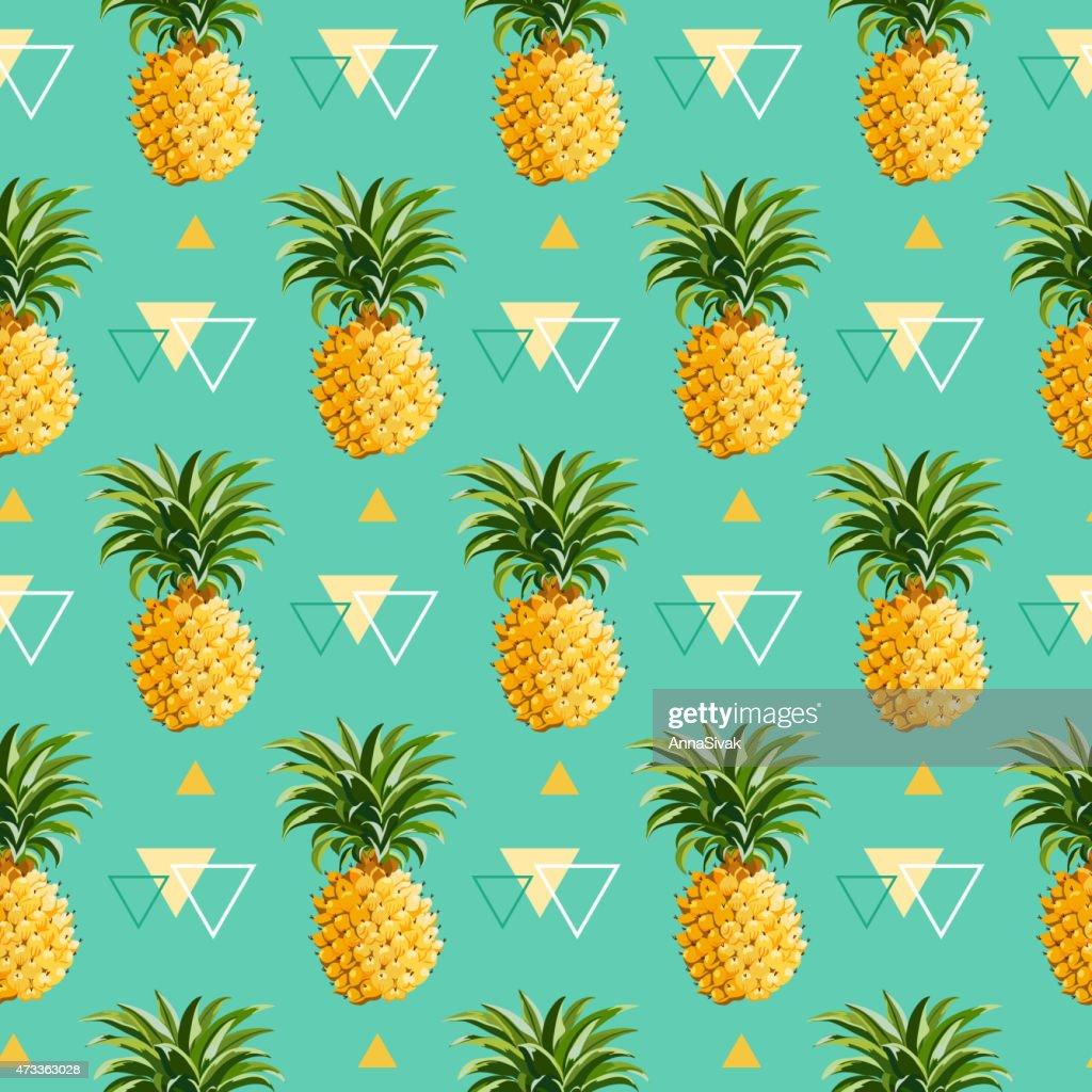 Geometric Pineapple Background - Seamless Pattern