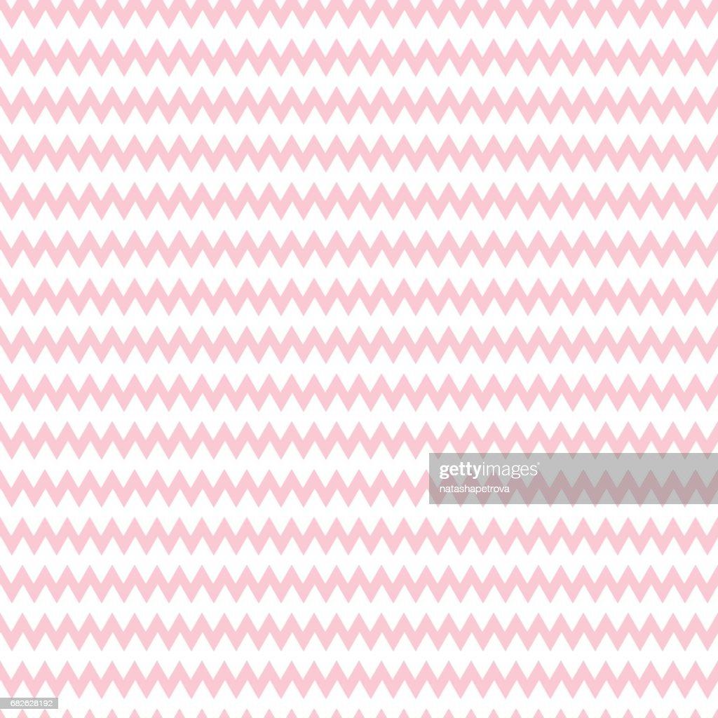 Geometric pink seamless pattern with zigzag
