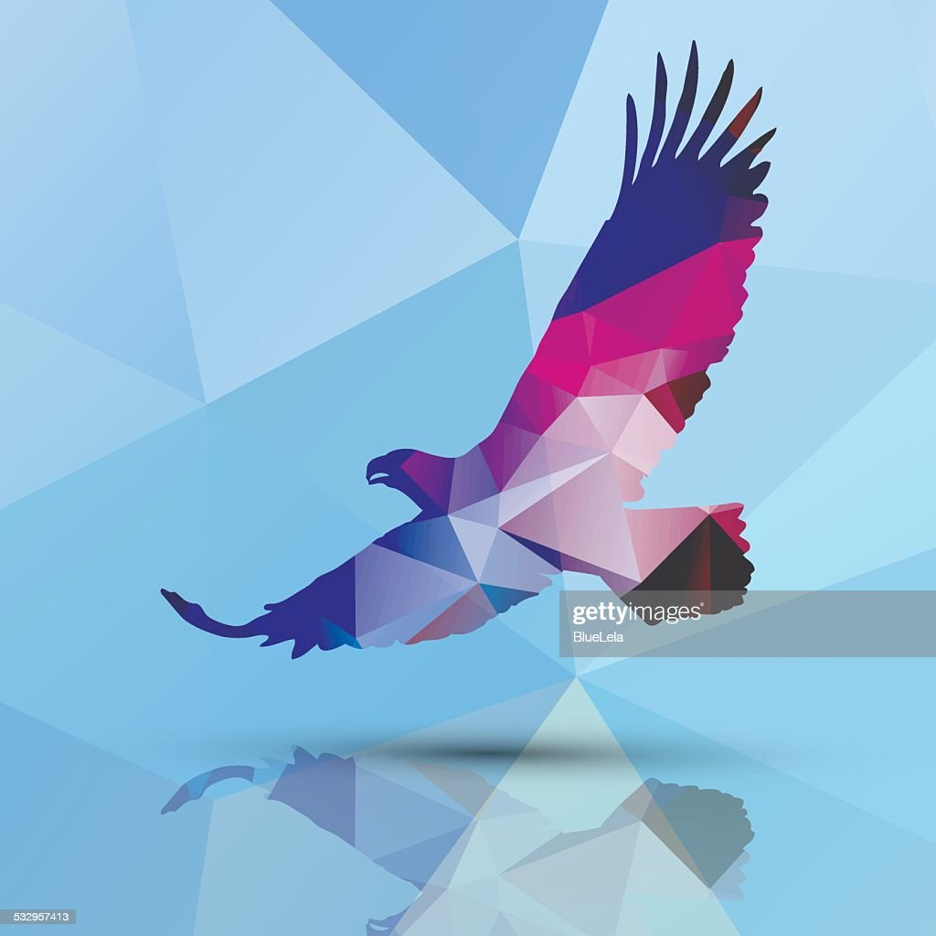 Geometric polygonal eagle, pattern design, vector illustration