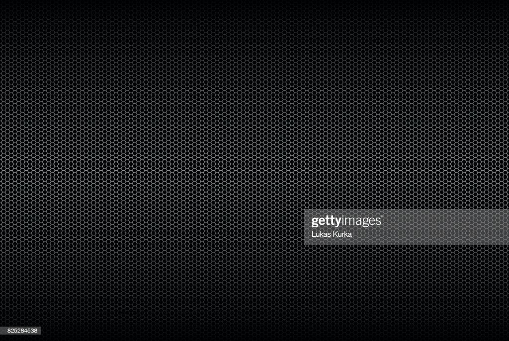 Geometric polygons background, abstract black metallic wallpaper, vector illustration