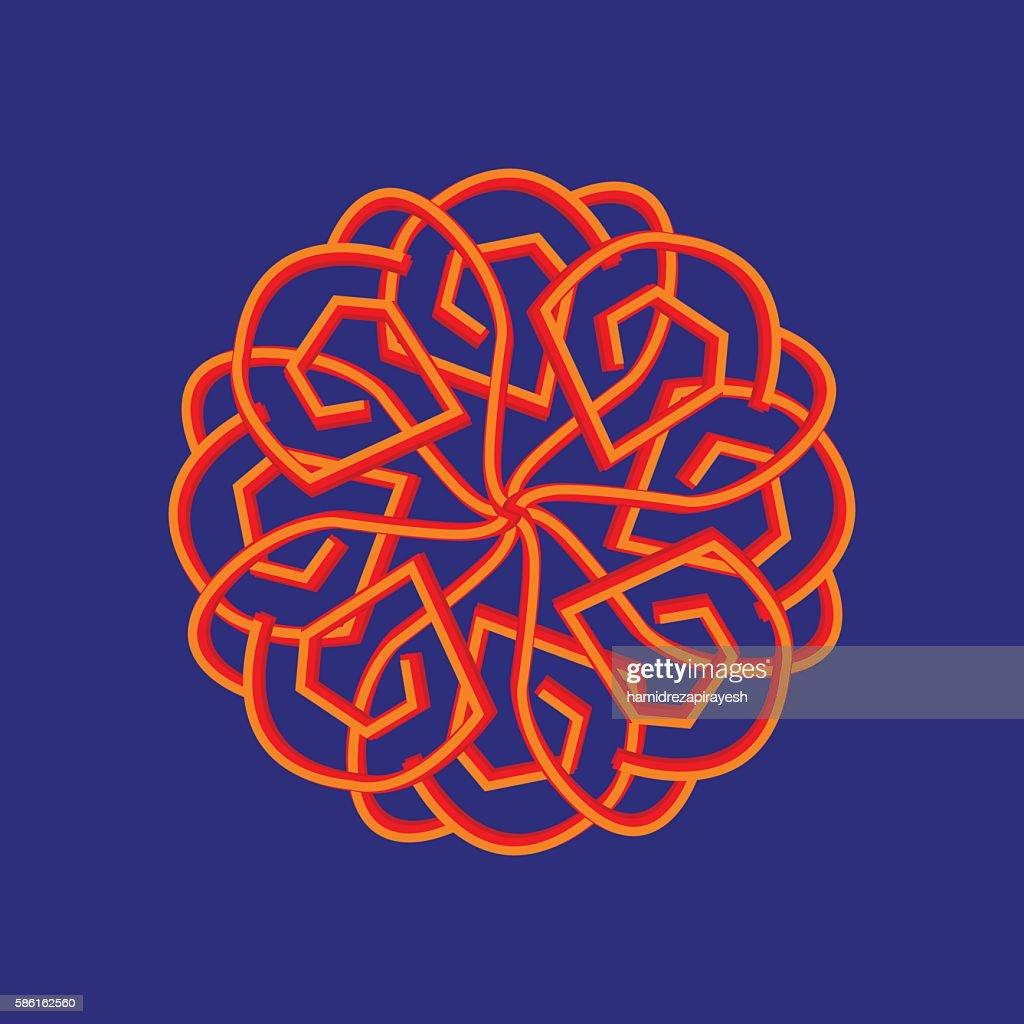 geometric radiant arabic pattern