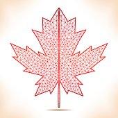 Geometric red leaf.