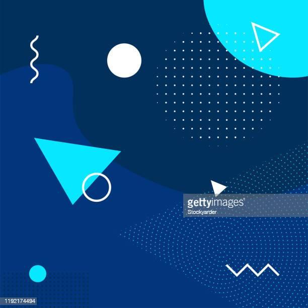geometrische retro abstrakte hintergrund - kunst, kultur und unterhaltung stock-grafiken, -clipart, -cartoons und -symbole