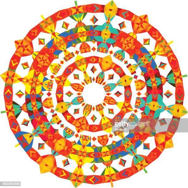 geometriska runda mönster