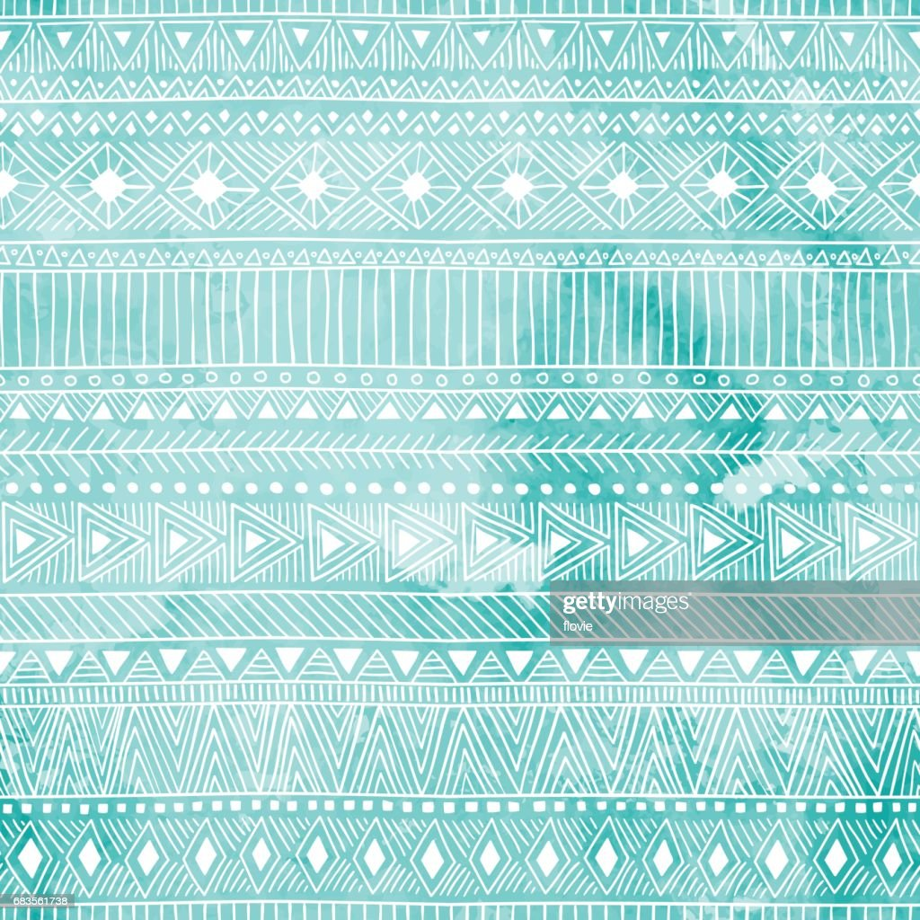 Geometric seamless pattern. Blue and white colors.