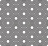 Geometric seamless pattern. Turtle shell pattern