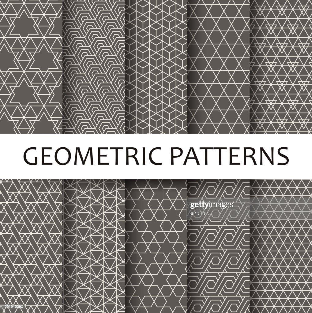 Geometric seamless pattern : Vector Art