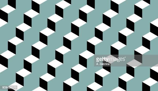 ilustrações, clipart, desenhos animados e ícones de sem costura padrão geométrico  - degraus