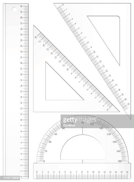 geometric set - ruler stock illustrations