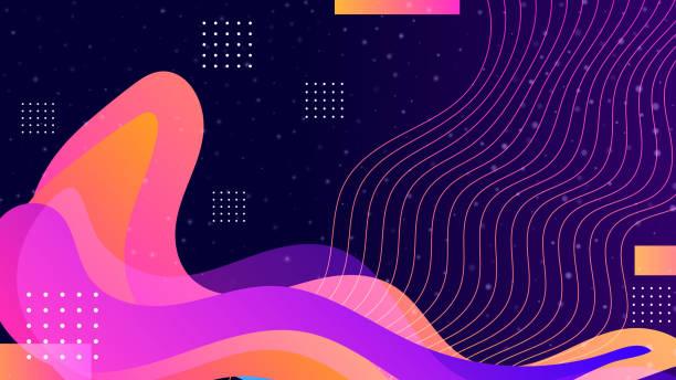 geometric shapes background - melting stock illustrations