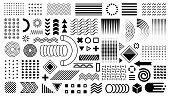 Geometric shapes, design elements.