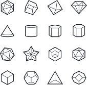Geometric Shapes Icon Bold Stroke