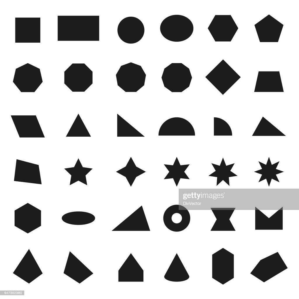 Geometric shapes icons