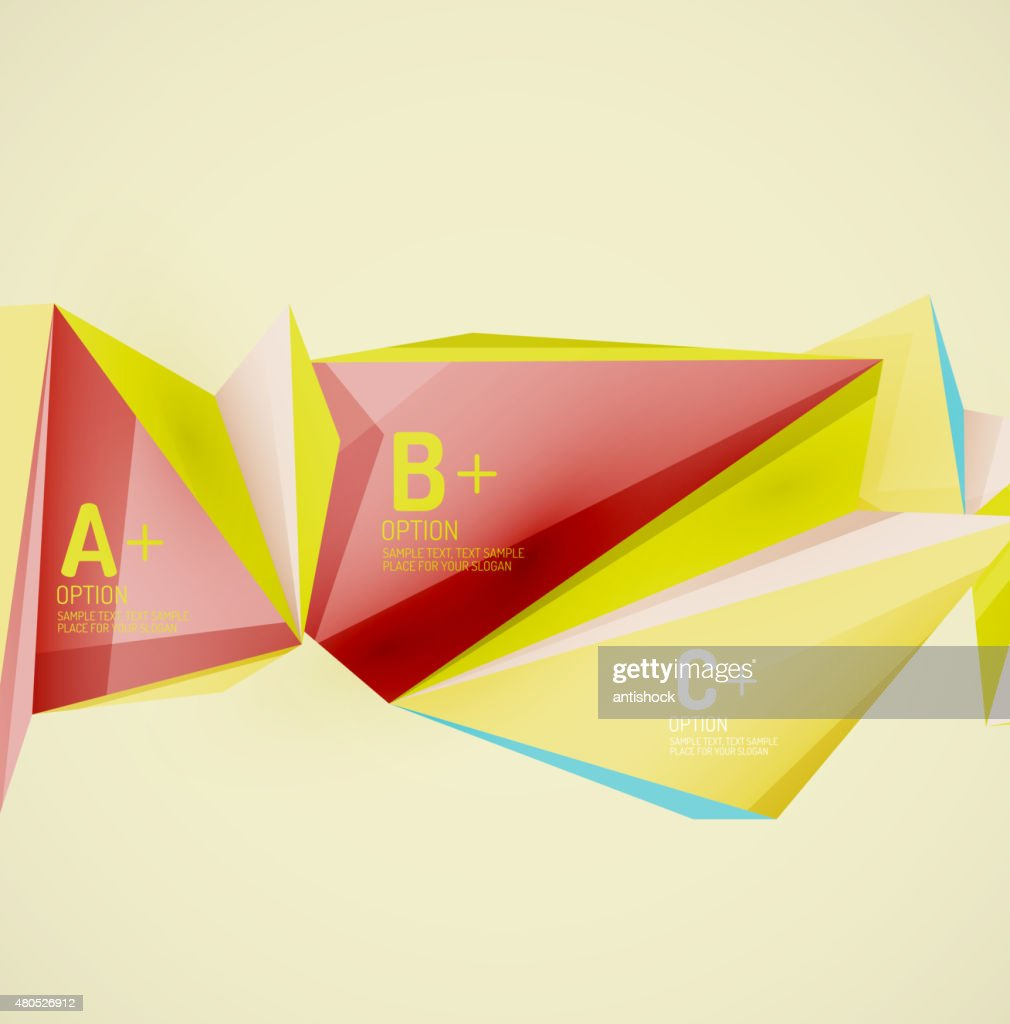Geometric shapes in the air. Vector abstract background : Vectorkunst