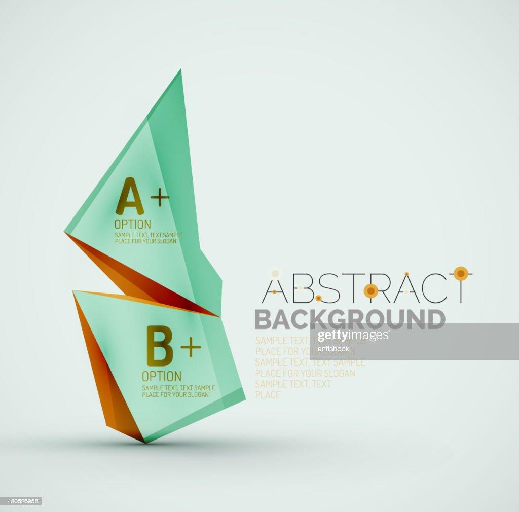 Geometrische Formen mit Beispieltext.  Abstrakte Vorlage : Vektorgrafik