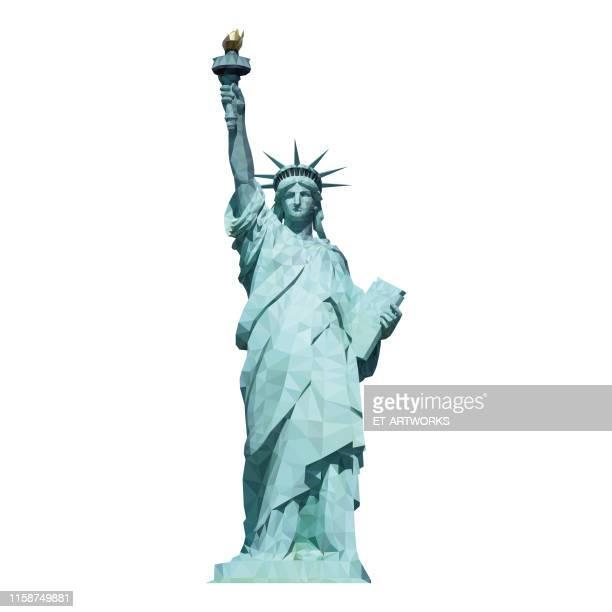 幾何学的自由の女神 - 自由の女神点のイラスト素材/クリップアート素材/マンガ素材/アイコン素材
