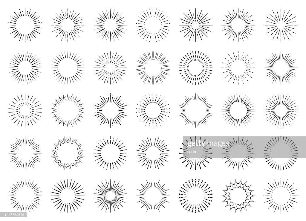 Ensemble Géométrique Sunburst : Illustration