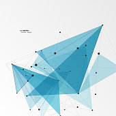 Geometric Triangle Vector Background. Triangles Connect Pattern for Business Presentations, Annual Report and Start Up Ideas