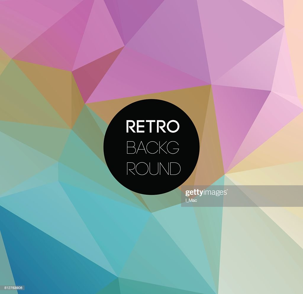 Geometric triangular light background Retro triangle