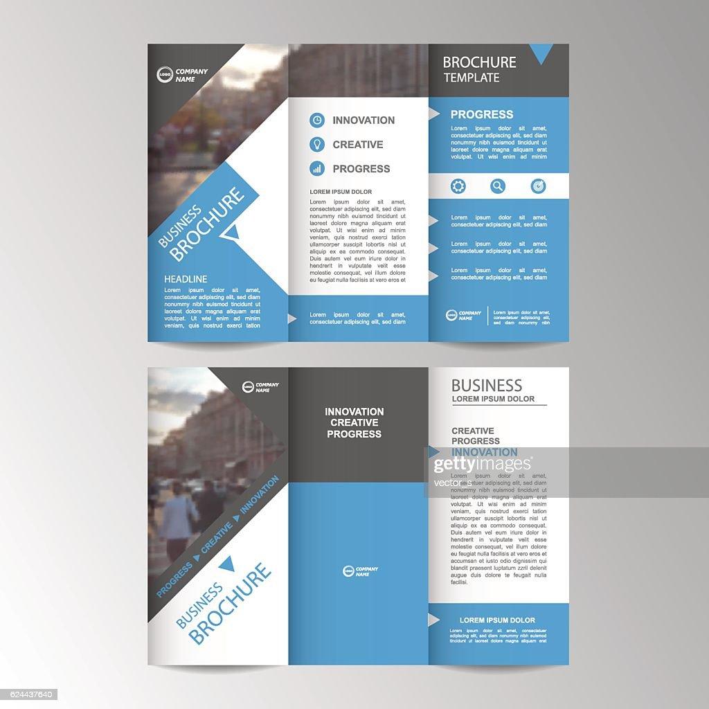 Geometric Trifold Business Brochure template