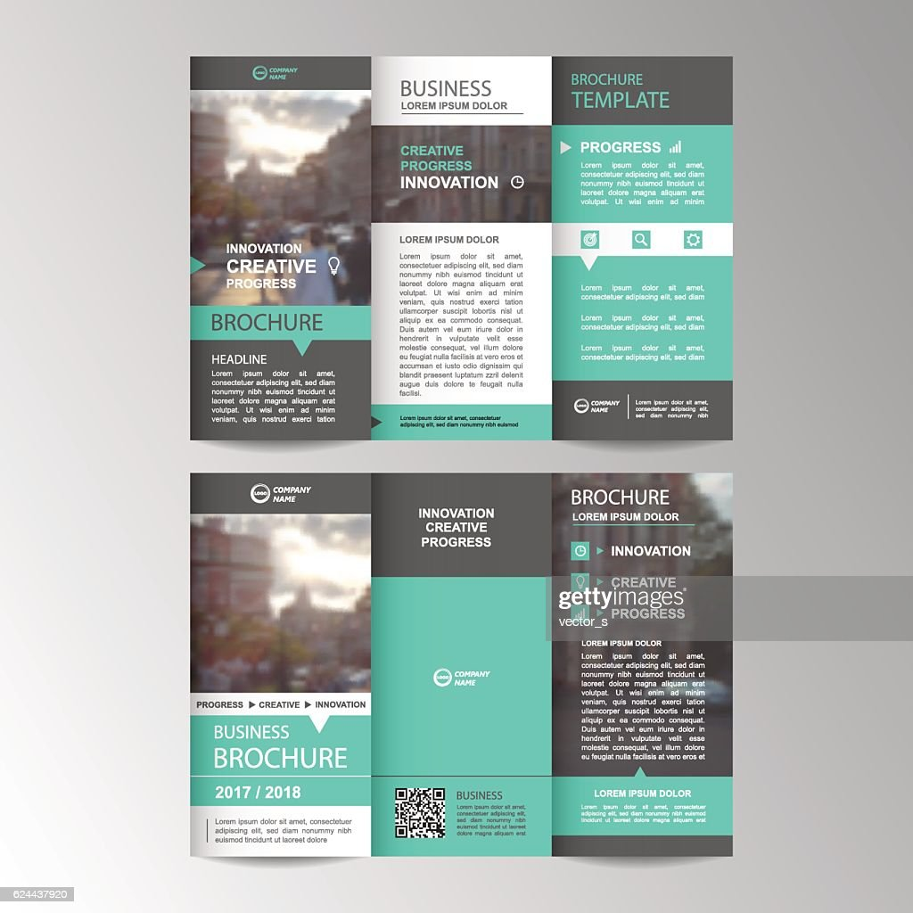 Geometric Trifold Business Brochure template