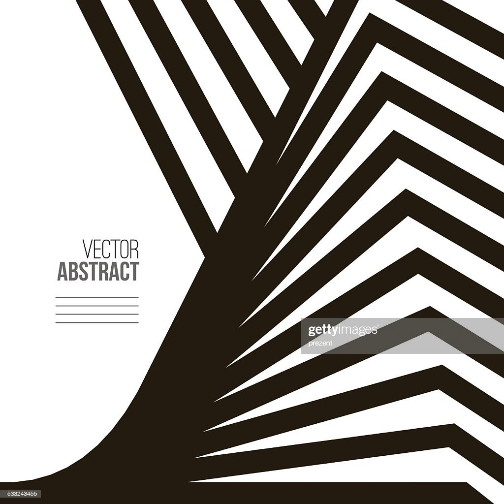 Geometric Vector Black and White Background