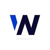 Geometric Vector Logo Letter W