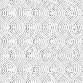 geometric vector pattern repeating abstract spiral, wavy, curve thin line or finger print. pattern is on swatches panel