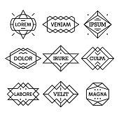 geometric vintage label