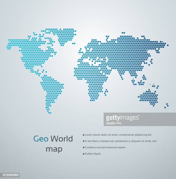 geometric world map - simplicity stock illustrations, clip art, cartoons, & icons