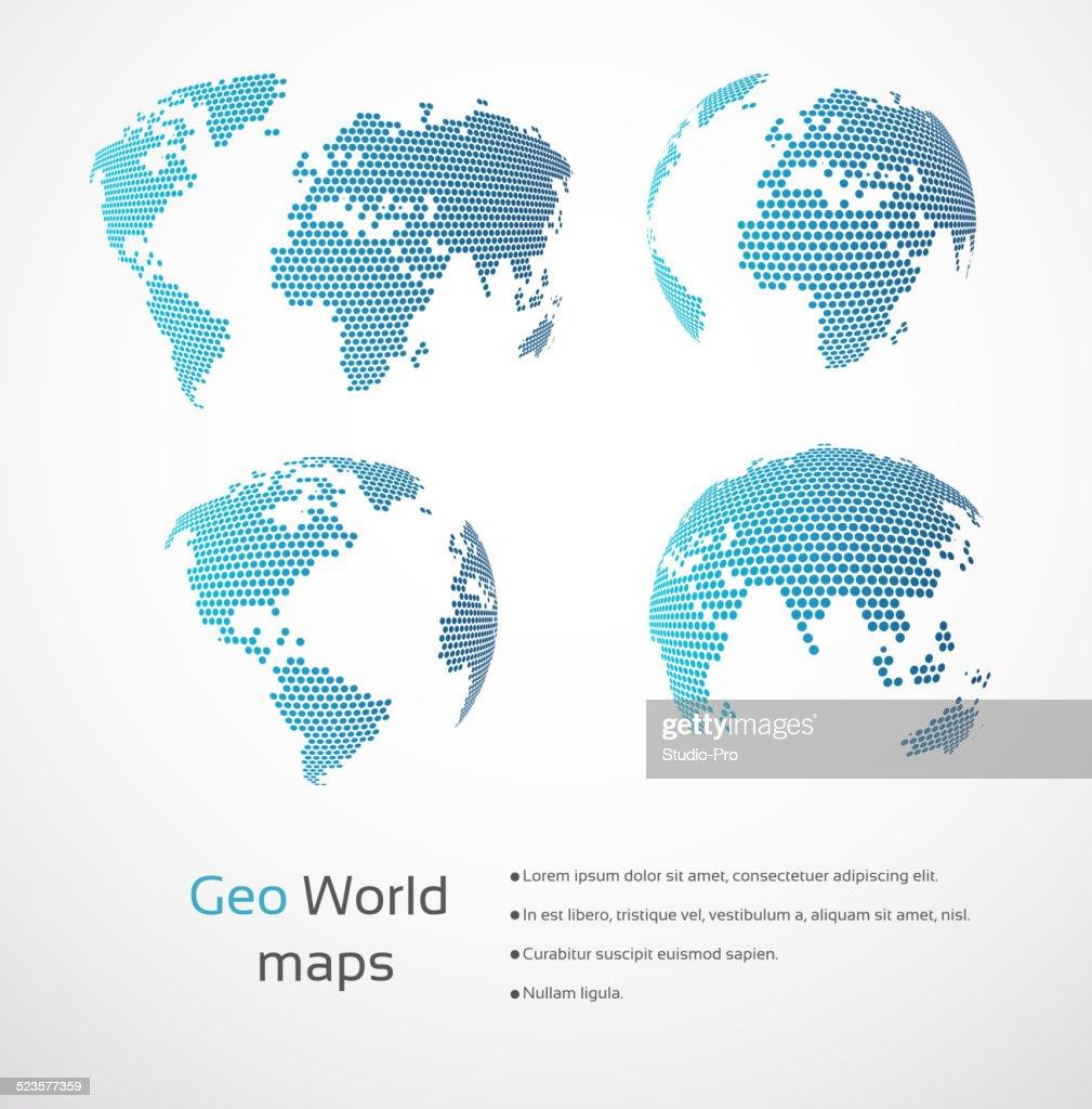 Geometric world maps