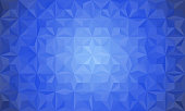 Geometrical abstract blue background. Vector gradient background in polygonal style.