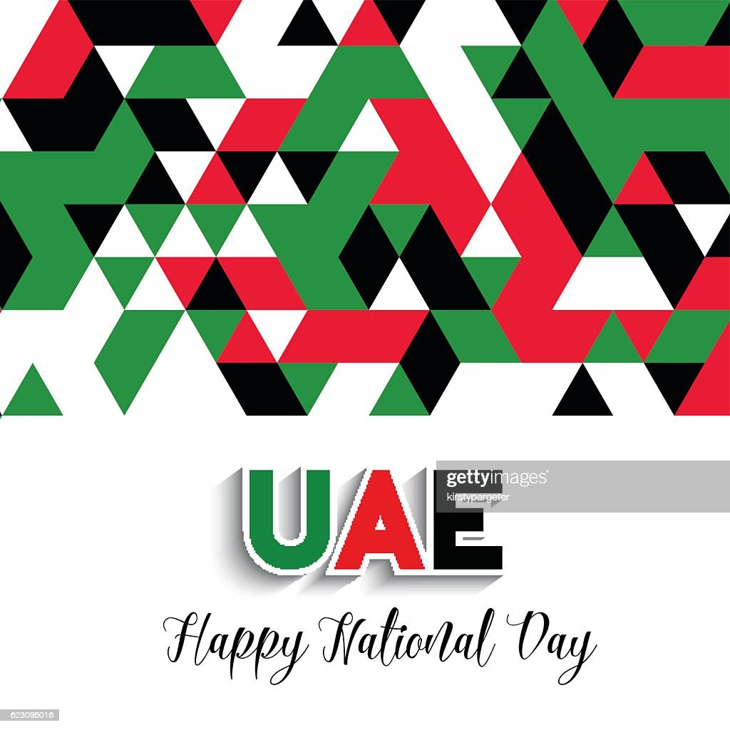 Geometrical design background for United Arab Emirates National