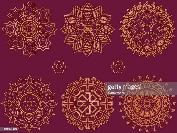 ilustraciones, imágenes clip art, dibujos animados e iconos de stock de diseño geométrico - etnia del subcontinente indio
