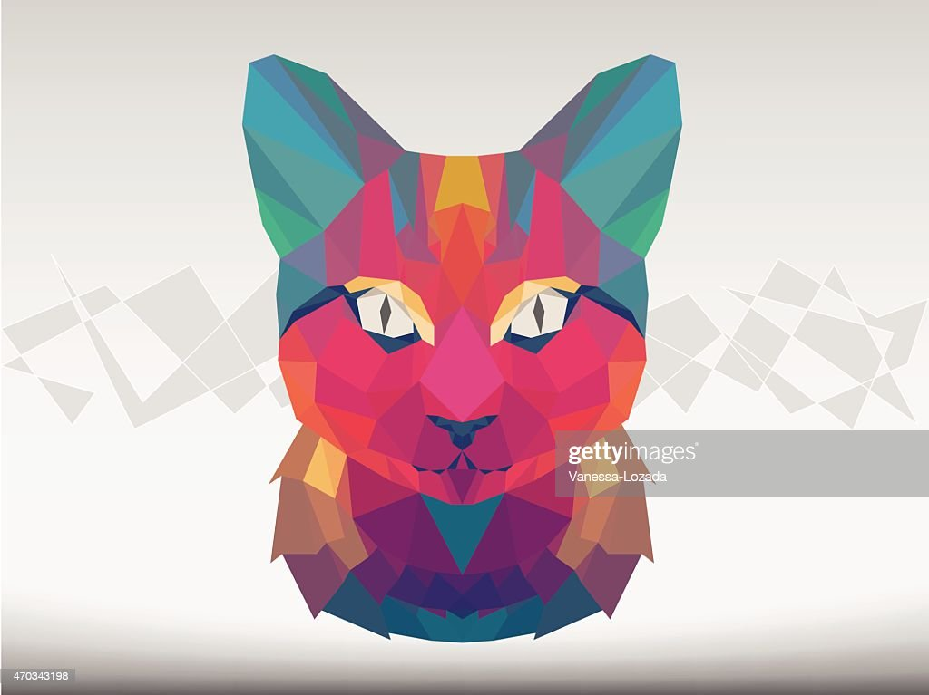 Geometrical faceted cat