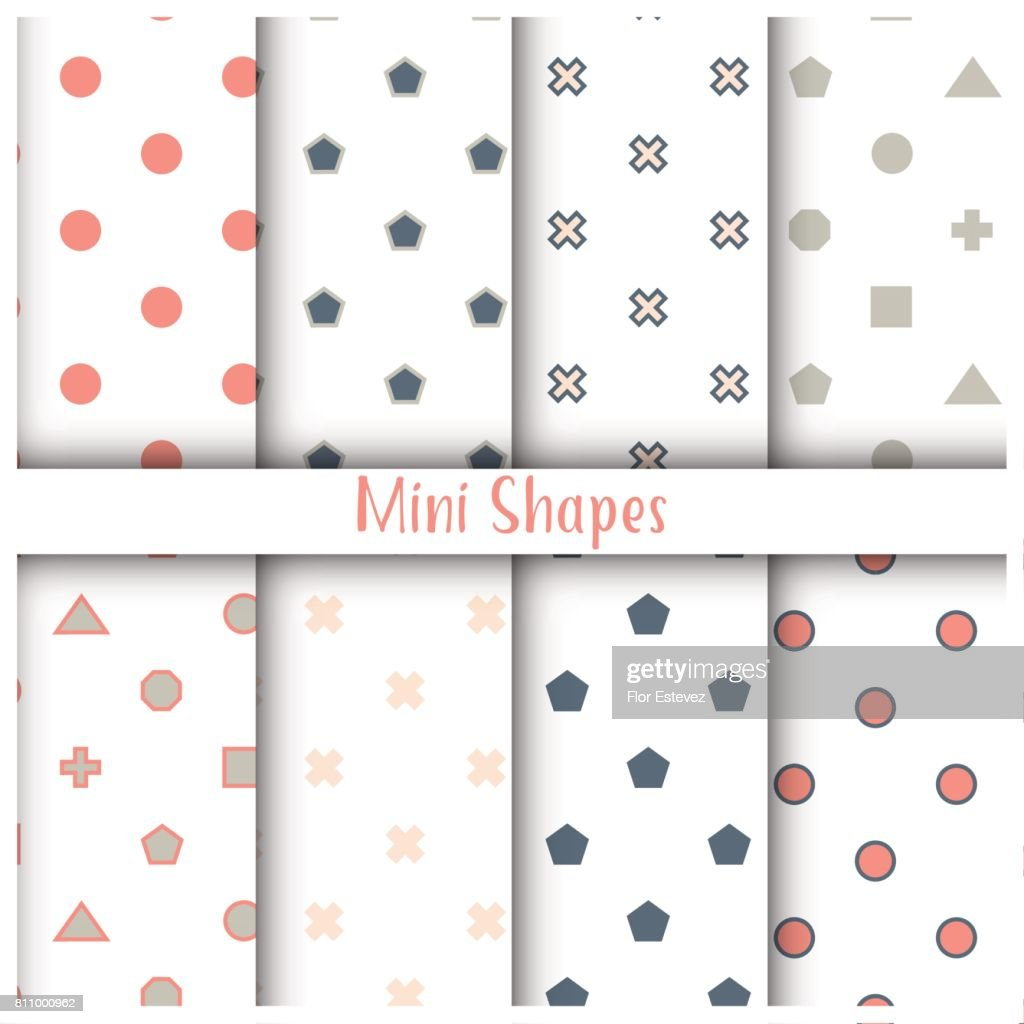 Geometrical forms. Seamless patterns pack