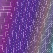 Geometrical grid background - vector design from curved angular line grid