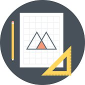 Geometry, design flat style, colorful, vector icon for info grap