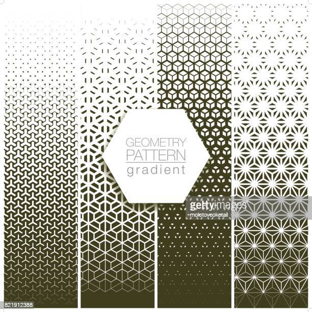 geometry pattern gradient set in gray