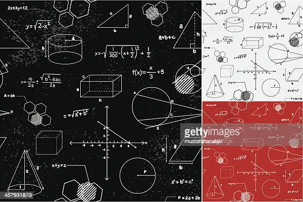 geometry seamless pattern - problems stock illustrations