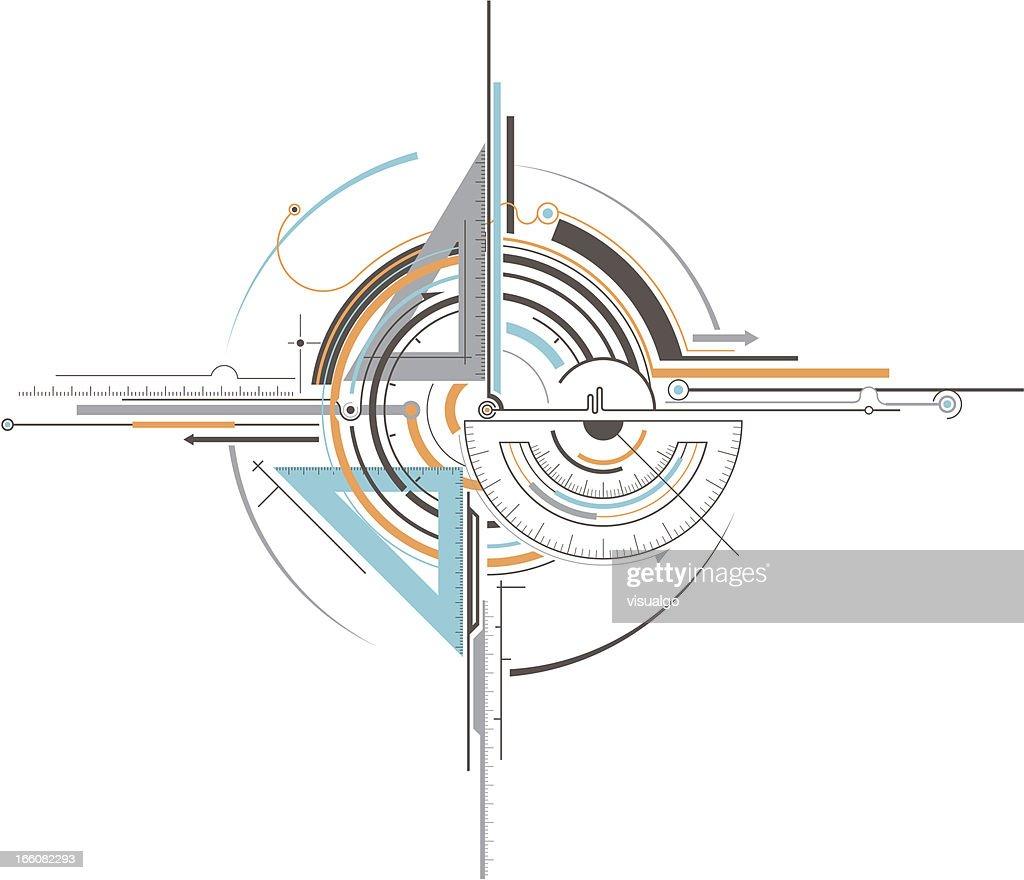 geometry tools : stock illustration
