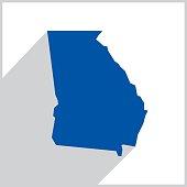 Georgia Blue Map Icon