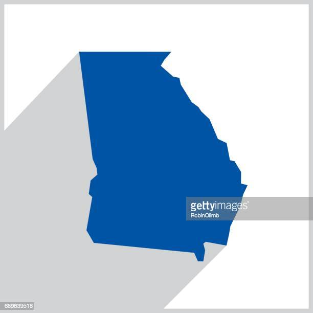 Georgia Blue Map Icon
