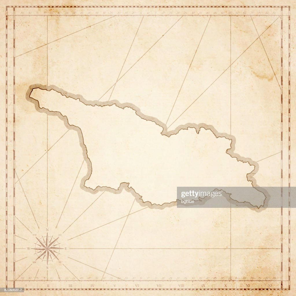Georgia Map In Retro Vintage Style